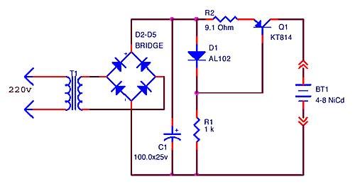 Простой зарядник для NiCd аккумуляторов