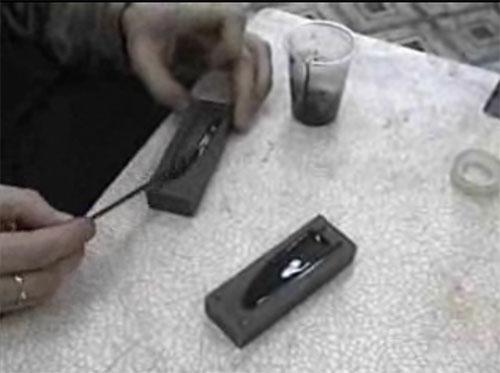 Один из методов укладки лопастей сборных винтов